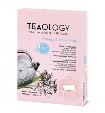 Teaology White Tea Miracle Breast Mask Firming Smooting 60 ml Pack Von 4 Einheiten