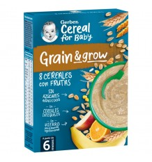 Gerber Papilla 8 Cereales Fruta 250g