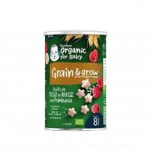 Gerber NutriPuffs Snack Bio de Céréales et de Framboise 35g