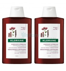Klorane Shampoo Chinin 400ml + 400ml Duplo Promotion