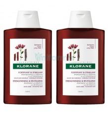 Klorane Shampooing à la Quinine 400ml + 400ml Duplo Promotion