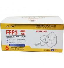 Máscara FFP3 NR Jiada 20 Unidades Caixa Completa