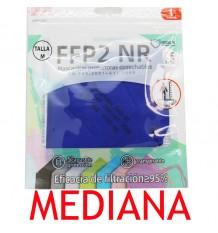 Máscara FFP2 NR Promask Azul Escuro 1 Unidade de Tamanho Médio