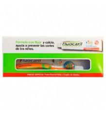 Fluocaril Kids Children Strawberry 0-6 Paste 50ml+ Brush Pack