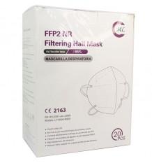 Mask FFP2 NR ML Black Exterior Interior Pack 20 Units Complete Box