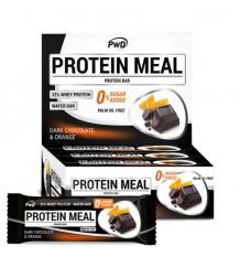 Protein Meal Barras De Chocolate Preto Laranja 12 Unidades Pwd Nutrition