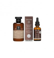 Apivita Öl Schuppen gegen Schuppen, Trockene und Fett 50 ml+ Shampoo-Schuppen 200ml