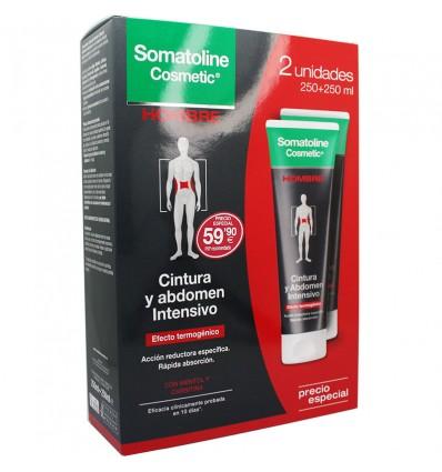 Somatoline Cosmetic Hombre Cintura y Abdomen Intensivo 250ml+250ml