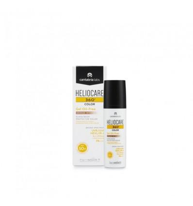 Heliocare 360 Gel de Couleur sans Huile de Bronze Intense 50 ml