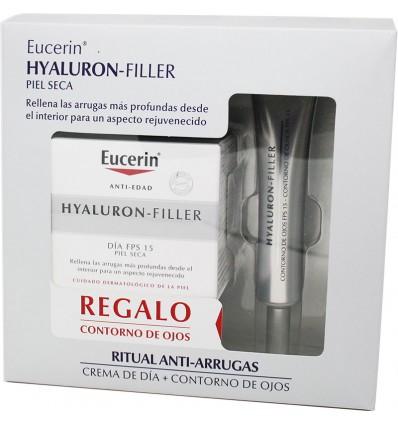 Eucerin Hyaluron Filler Crema dia Piel Seca 50 ml Contorno Gratis