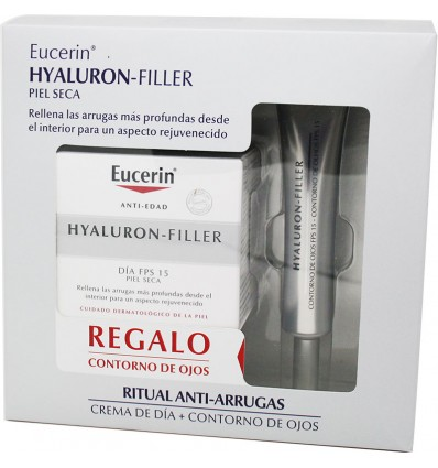 Eucerin Hyaluron Filler Creme dia Pele Seca 50 ml Contorno Grátis