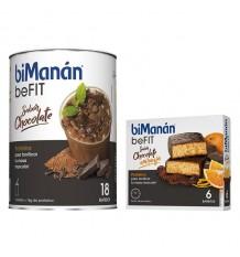 Bimanan Befit Batido Chocolate 540 g 18 Batidos + Befit Barritas Chocolate