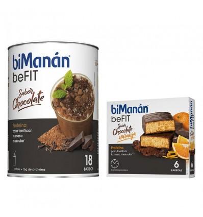 Bimanan Befit Shake de Chocolate 540 g 18 Batidos + Befit Barras de Chocolate