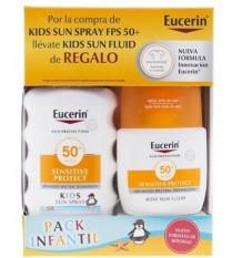 Eucerin Sun 50 Enfants Spray 200 ml + de Soleil Kids Fluide 50ml