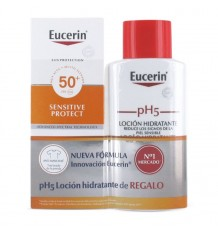 Eucerin Sun 50 Lotion Sensibles à Protéger 150ml + Ph5 Lotion 200ml