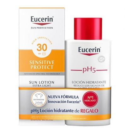 Eucerin Sun 30 Locion Sensitive Protect 150ml + Ph5 Locion 200ml