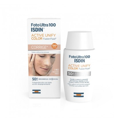 Fotoultra Isdin 100 Active Unify Fusion Fluid Color 50 ml