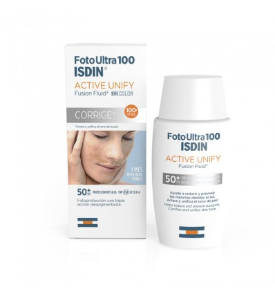 Fotoultra Isdin 100 Active Unify Fusion Fluid 50 ml corrige