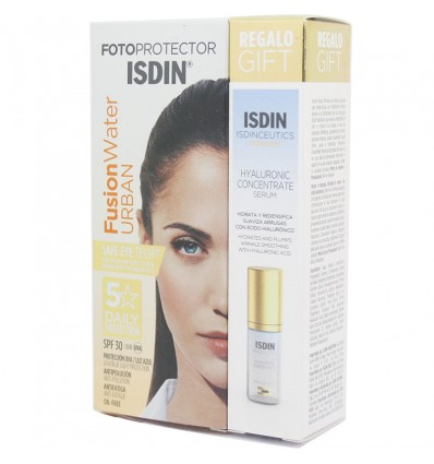 Fotoprotector Isdin Fusion Water Urban Spf 30 50ml + Hyaluronic Concentrate 5ml