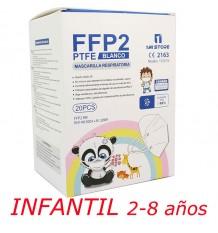 Máscara Ffp2 Nr 1MiStore Infantil Branca 20 Unidades Caixa Completa