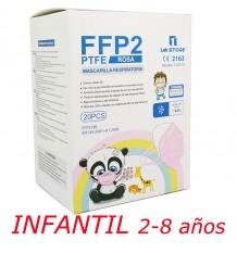 Máscara Ffp2 Nr 1MiStore Infantil Rosa 20 Unidades Caixa Completa