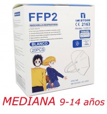 Mascarilla Ffp2 Nr 1MiStore Mediana Blanca 20 Unidades Caja Completa