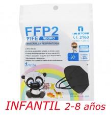 Mask Ffp2 Nr 1MiStore Child Black 1 Unit