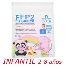 Mask Ffp2 Nr 1MiStore Child Pink 1 Unit