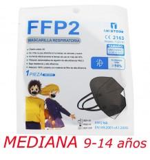 Mascarilla Ffp2 Nr 1MiStore Mediana Negra 1 Unidad