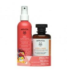Apivita Abeille Sun Kids Spray Solaire Spf50 200ml + Shampooing Rinis 200ml