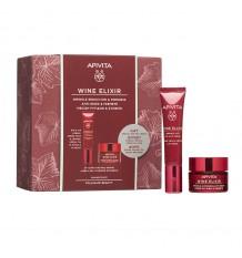 Apivita Baú Wine Elixir Contorno dos Olhos 15ml + Creme com Textura Leve 15ml