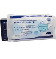 Máscara Quirurgica IIR Azul Clássico 50 Unidades Caixa Clube Nautico