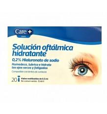 Care + Solução Oftalmica Hidratante 20 frascos + Toalhetes 8 peças