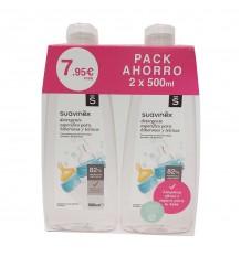 Suavinex Waschmittelflaschen und Zitzen 500 ml + 500 ml Duplo