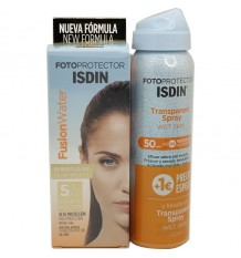 Fotoprotetor ISDIN 50 Fusion Water 50 ml + Trasparent Spray Spf50 100ml