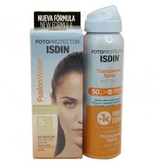 Photoprotector ISDIN 50 Fusion Wasser 50 ml + transparent Spray Spf50 100 ml