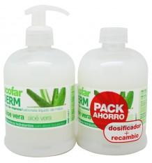 Acofarderm savon pour les mains Aloe Vera Duplo 1000 ml