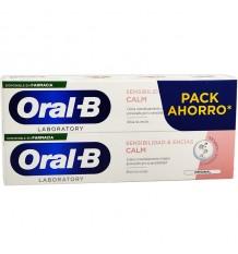 Oral B sensibilidade Calm pasta de dente 100ml + 100ml Duplo