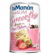 Bimanan Beslim smoothie avoine Fraise Banane 12 smoothies