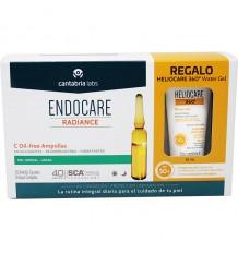 Endocare Radiance C Sans huile 30 ampoules + Gel eau Heliocare 15 ml