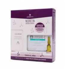 Neoretin Discrom Control Gel Crème Spf50 40 ml + 7 ampoules Sans huile