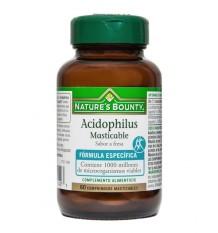 Nature's Bounty Acidophilus à croquer 60 comprimés Fraise