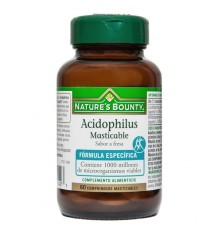 Nature's Bounty Acidophilus Mastigável 60 comprimidos morango
