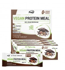 Vegan Protein Meal Bars Chocolate Praline Hazelnuts 12 Units Pwd Nutrition