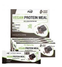 Vegan Protein Meal Barras Chocolate Cafe 12 Peças Pwd Nutrition