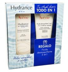 Avene Hydrance Uv leve 40ml + fluido Removedor de maquiagem 3 em 1 100ml