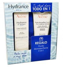 Avene Hydrance Uv reiche 40 ml + Make-Up Entferner flüssigkeit 3 in 1 100 ml