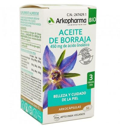 Arkocapsulas óleo de borragem 50 Cápsulas Bio