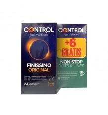 Control Preservativos Finissimo 24 unidades + 6 Non stop Gratis