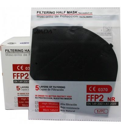 Masken FFP2 Nr Jiada Schwarz 25 Einheiten Box komplett